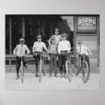 Telegram Messenger Boys, 1911. Vintage Photo Poster