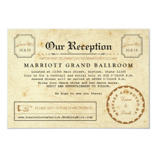 """Telegram Reception After Party Travel Insert Card 3.5"""" X 5"""" Invitation Card"""