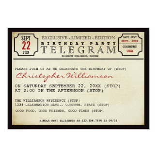 Telegram Style Birthday Party Invitation