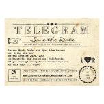 Telegrama con reserva del viaje del vintage de los