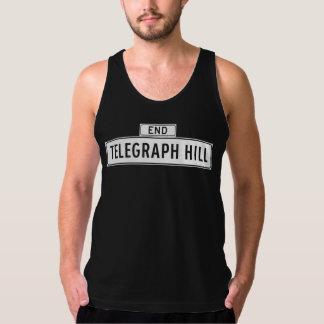 Telegraph Hill, San Francisco Street Sign American Apparel Fine Jersey Tank Top