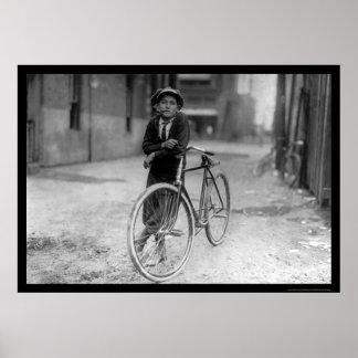 Telegraph Messenger Boy Waco Texas 1913 Posters