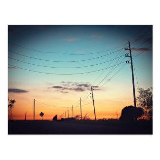 Telegraph Road Sunset Postcard