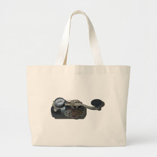 TelegraphKeyWithGears062115 Large Tote Bag