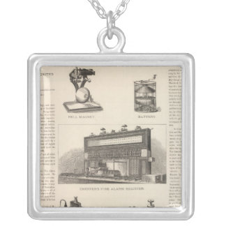 Telegraphy in the United States Silver Plated Necklace