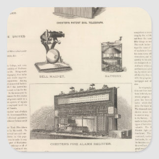 Telegraphy in the United States Square Sticker