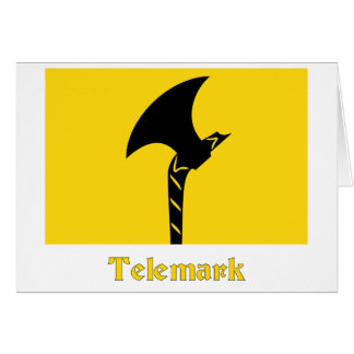 Telemark flag with name card
