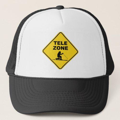 Telemark Ski Zone Sign Trucker Hat