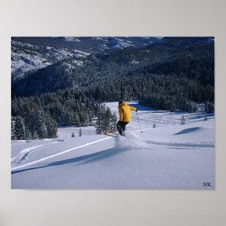 Telemark Skiier Takes Flight Poster