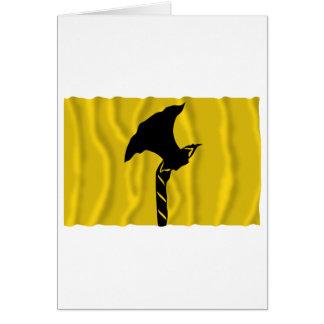 Telemark waving flag card