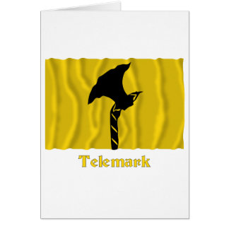 Telemark waving flag with name card