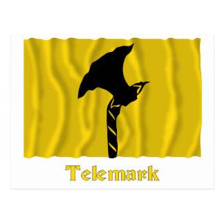 Telemark waving flag with name postcard