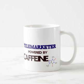 Telemarketer Powered by caffeine Mugs