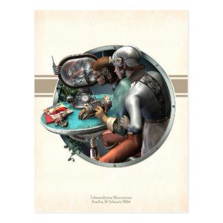 Telemedicine Illustration Postcard