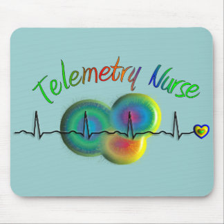 Telemetry Nurse Gifts Mouse Pad