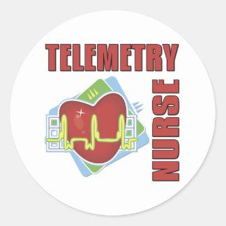 Telemetry Nurse Classic Round Sticker