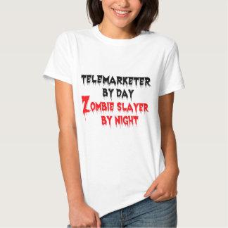 Teleoperador del asesino del zombi del día por playera