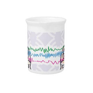 Telepathy Between Human Brains via Brainwaves Beverage Pitchers