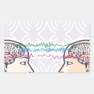 Telepathy Between Human Brains via Brainwaves Rectangular Sticker