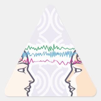 Telepathy Between Human Brains via Brainwaves Triangle Sticker