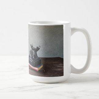 Telephone and Sunflowers Classic White Coffee Mug