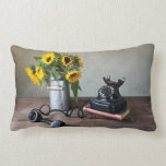 Telephone and Sunflowers Pillows