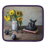 Telephone and Sunflowers Sleeves For iPads