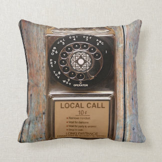 Telephone antique rotary pay phone steampunk booth pillow