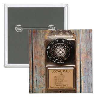 Telephone antique rotary pay phone steampunk booth pinback button