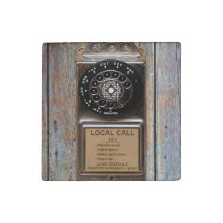 Telephone antique rotary pay phone steampunk booth stone magnet