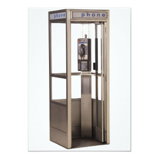 Telephone Booth 5x7 Paper Invitation Card