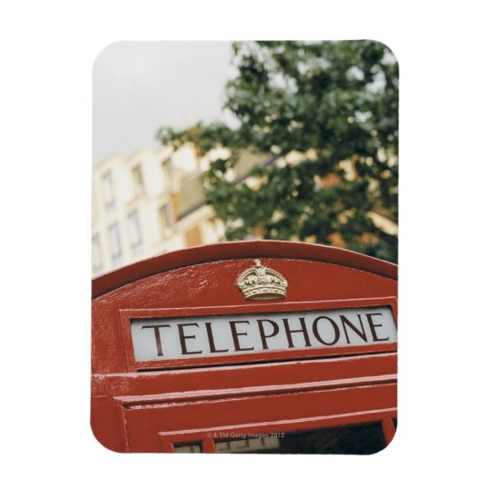 Telephone booth in London England Magnet