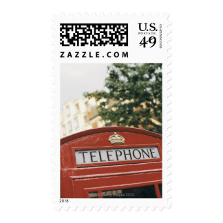 Telephone booth in London England Postage