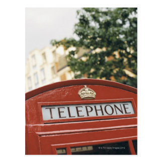 Telephone booth in London England Postcard