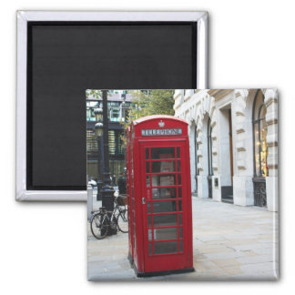 Telephone booth 2 inch square magnet