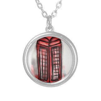 Telephone Booth Products Silver Plated Necklace