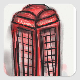 Telephone Booth Products Square Sticker