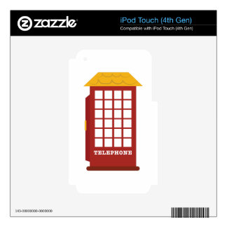 Telephone Booth Decals For iPod Touch 4G
