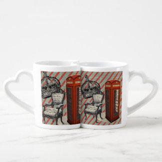 telephone booth victorian  jubilee crown london coffee mug set