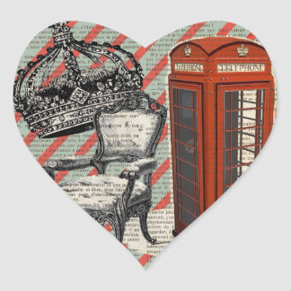 telephone booth victorian  jubilee crown london heart sticker
