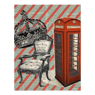 telephone booth victorian  jubilee crown london letterhead