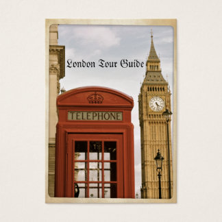 Telephone Box and Tower of Big Ben Business Card