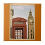 Telephone Box and Tower of Big Ben Ceramic Tiles
