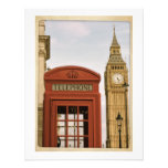 Telephone Box and Tower of Big Ben Invitations
