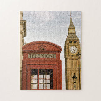 Telephone Box and Tower of Big Ben Jigsaw Puzzle