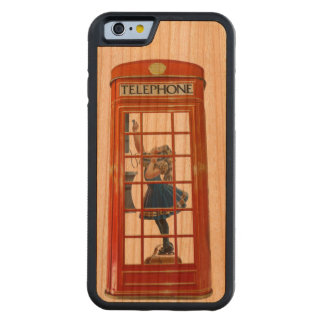 Telephone Box image for iPhone 6 Cherry Wood Case
