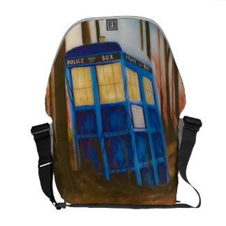 Telephone box messenger bag