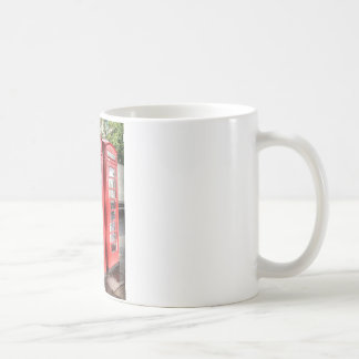 Telephone box coffee mugs