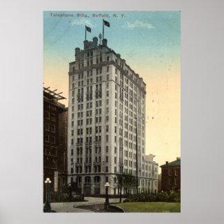 Telephone Building, Buffalo NY 1915 Vintage print