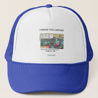 Telephone Code Blue Cartoon Funny Cap